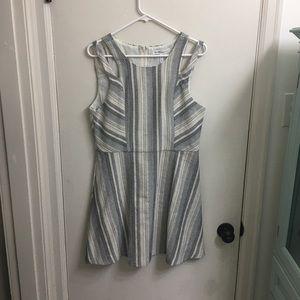 Black and white BCBG patterned striped dress
